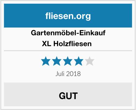 Gartenmöbel-Einkauf XL Holzfliesen  Test
