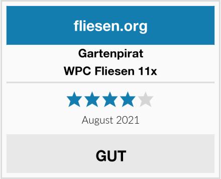 Gartenpirat WPC Fliesen 11x Test