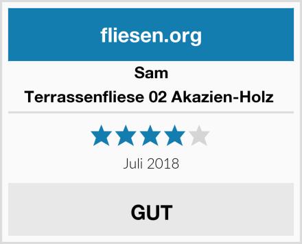 Sam Terrassenfliese 02 Akazien-Holz  Test