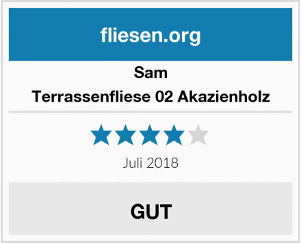 Sam Terrassenfliese 02 Akazienholz Test