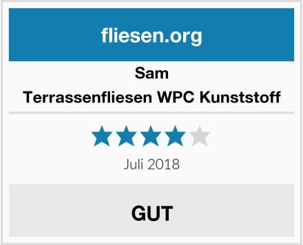 Sam Terrassenfliesen WPC Kunststoff Test