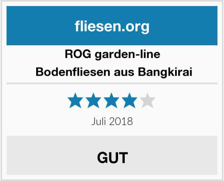 ROG garden-line  Bodenfliesen aus Bangkirai Test