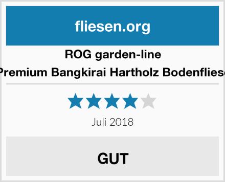 ROG garden-line Premium Bangkirai Hartholz Bodenfliese Test