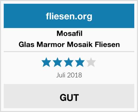 Mosafil Glas Marmor Mosaik Fliesen Test