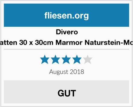 Divero 11 Matten 30 x 30cm Marmor Naturstein-Mosaik  Test