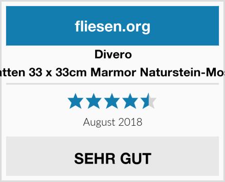 Divero 9 Matten 33 x 33cm Marmor Naturstein-Mosaik  Test