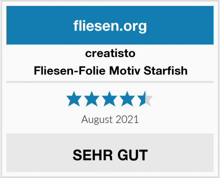 creatisto Fliesen-Folie Motiv Starfish Test