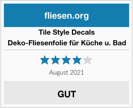 Tile Style Decals Deko-Fliesenfolie für Küche u. Bad Test