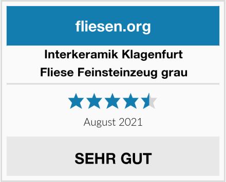 Interkeramik Klagenfurt  Fliese Feinsteinzeug grau Test