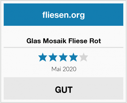 no name Glas Mosaik Fliese Rot Test