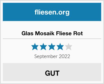 Glas Mosaik Fliese Rot Test