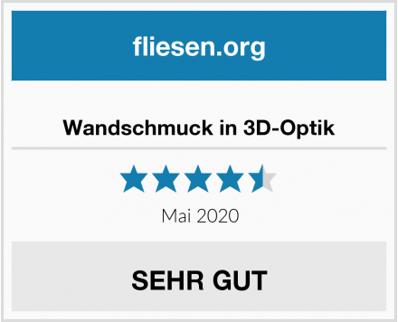 no name Wandschmuck in 3D-Optik Test