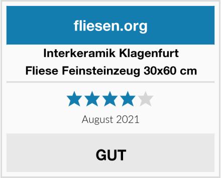 Interkeramik Klagenfurt Fliese Feinsteinzeug 30x60 cm Test