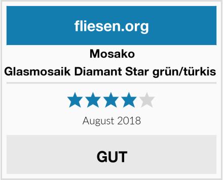Mosako Glasmosaik Diamant Star grün/türkis  Test