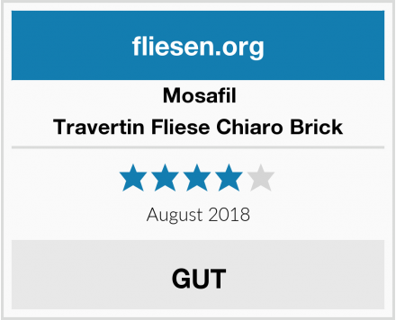Mosafil Travertin Fliese Chiaro Brick Test