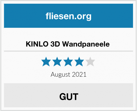 KINLO 3D Wandpaneele  Test