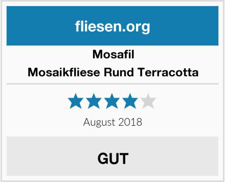 Mosafil Mosaikfliese Rund Terracotta Test