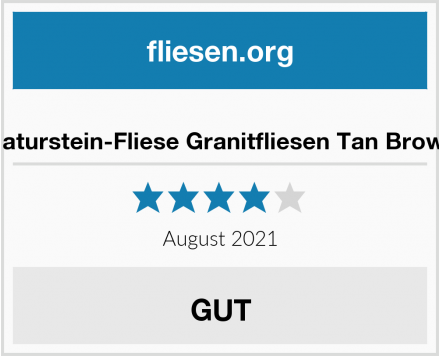 Naturstein-Fliese Granitfliesen Tan Brown Test