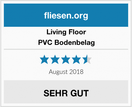 Living Floor PVC Bodenbelag Test