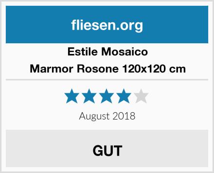 Estile Mosaico Marmor Rosone 120x120 cm Test