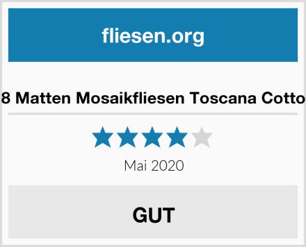 8 Matten Mosaikfliesen Toscana Cotto Test