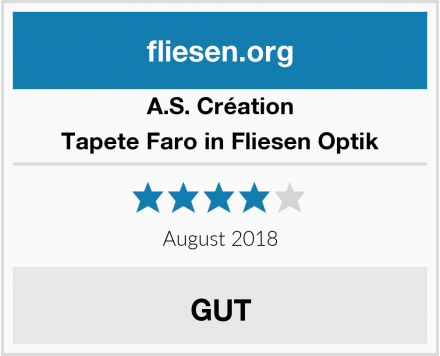 A.S. Création Tapete Faro in Fliesen Optik Test