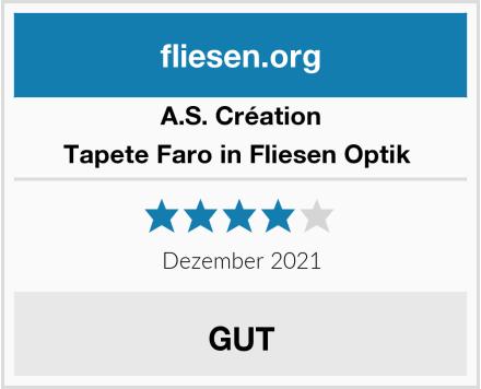 A.S. Création Tapete Faro in Fliesen Optik  Test