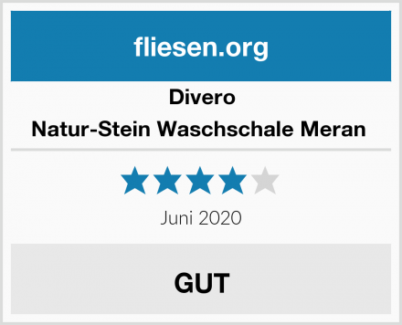 Divero Natur-Stein Waschschale Meran  Test