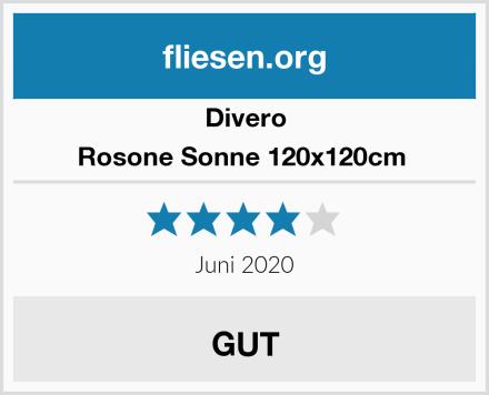 Divero Rosone Sonne 120x120cm  Test
