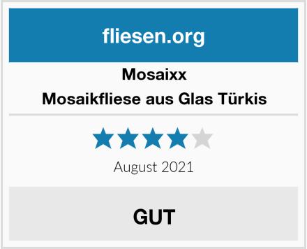 Mosaixx Mosaikfliese aus Glas Türkis Test