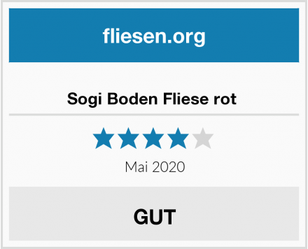 Sogi Boden Fliese rot  Test