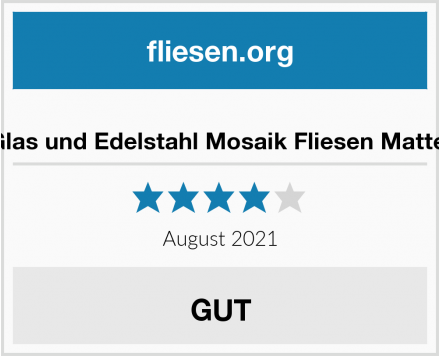 no name Glas und Edelstahl Mosaik Fliesen Matte  Test
