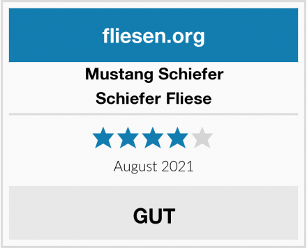 Mustang Schiefer Schiefer Fliese Test
