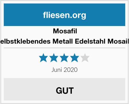 Mosafil Selbstklebendes Metall Edelstahl Mosaik  Test