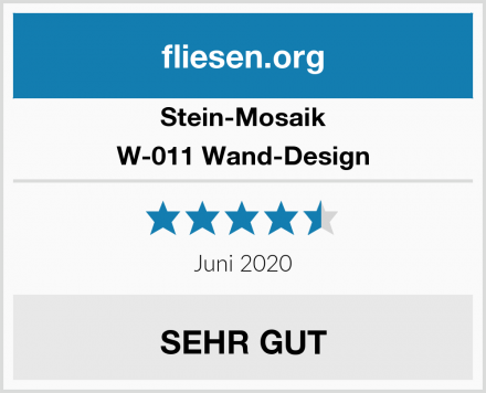 Stein-Mosaik W-011 Wand-Design Test
