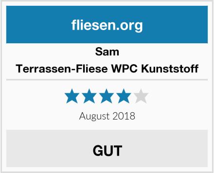 Sam Terrassen-Fliese WPC Kunststoff Test