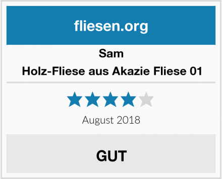 Sam Holz-Fliese aus Akazie Fliese 01 Test