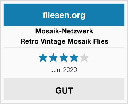 Mosaik-Netzwerk Retro Vintage Mosaik Flies Test