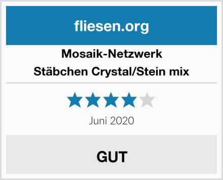 Mosaik-Netzwerk Stäbchen Crystal/Stein mix Test