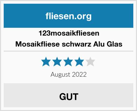 123mosaikfliesen Mosaikfliese schwarz Alu Glas Test