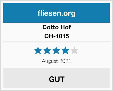 Cotto Hof CH-1015 Test