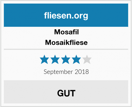Mosafil Mosaikfliese Test