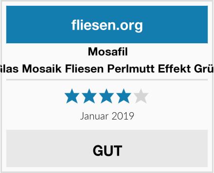 Mosafil Glas Mosaik Fliesen Perlmutt Effekt Grün Test