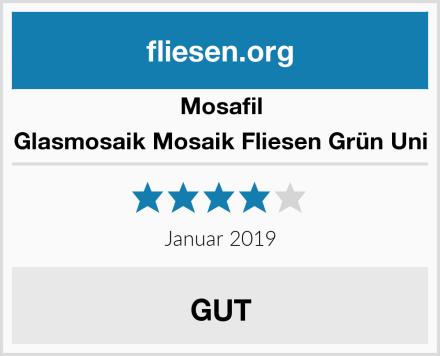 Mosafil Glasmosaik Mosaik Fliesen Grün Uni Test