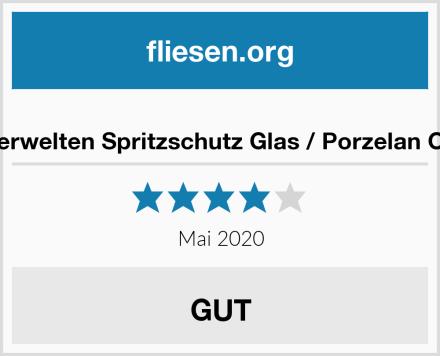 Bilderwelten Spritzschutz Glas / Porzelan Optik Test