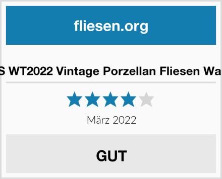 WALPLUS WT2022 Vintage Porzellan Fliesen Wandsticker Test