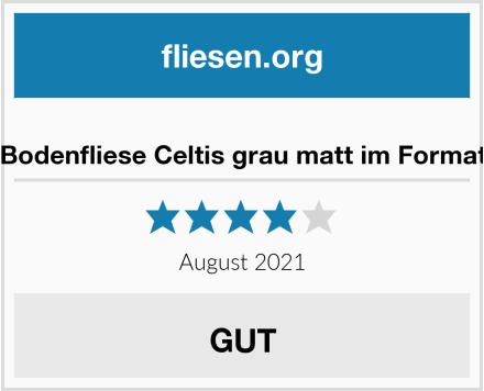 no name Bodenfliese Celtis grau matt im Format Test