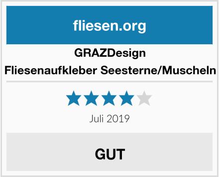 GRAZDesign Fliesenaufkleber Seesterne/Muscheln Test