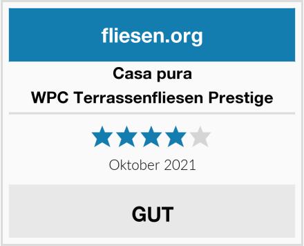 Casa Pura WPC Terrassenfliesen Prestige Test