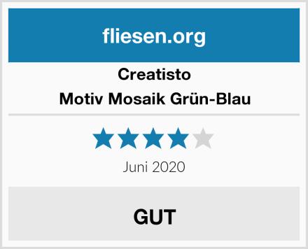 creatisto Motiv Mosaik Grün-Blau Test